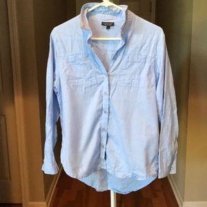 Topshop Blue Button Down Shirt